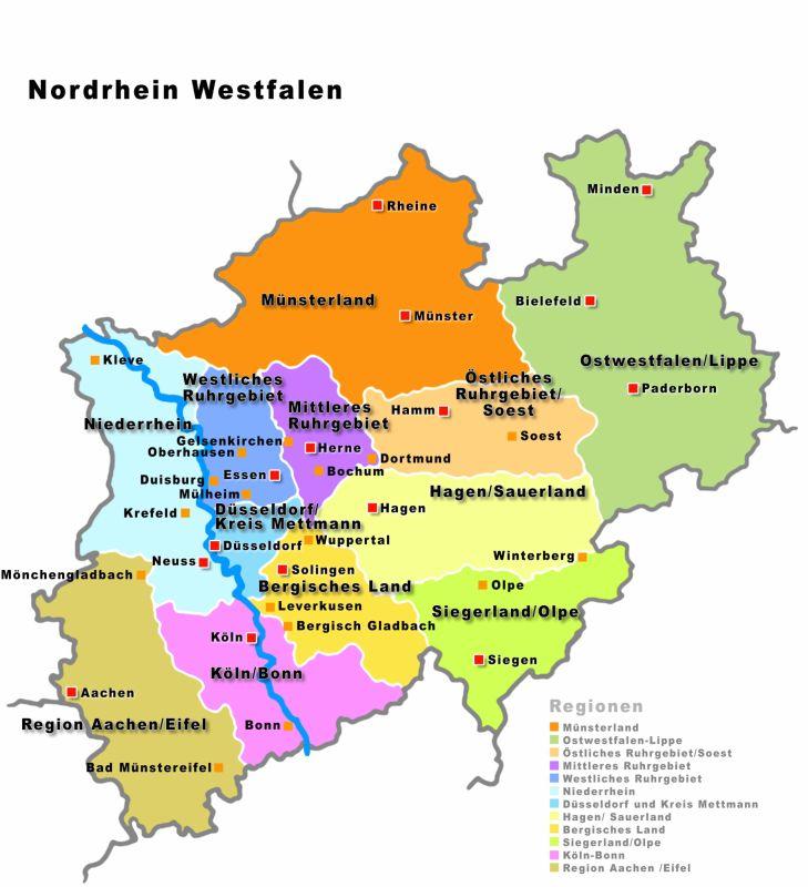 Karte Niederrhein.Studenten Nrw Ticket